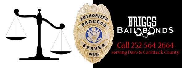 Briggs Bail Bonds OBX Dare and Currituck County, dare county process server
